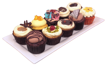 Plate of cupcakes2